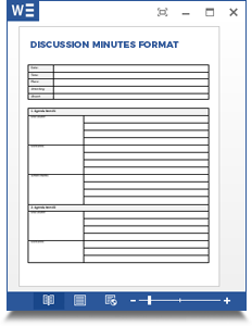 discussion minutes format